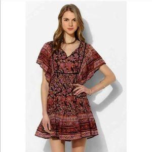 NWOT Ecote boho printed dress.